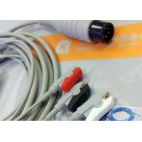 Quality Generic AAMI 6 Pin One Piece ECG Patient Cable 3 Leads For Patient Monitoring Equipment wholesale
