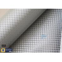 Buy cheap Silver Coated Fabric Aluminized Fiberglass Cloth 0.2MM 260℃ Decoration from wholesalers