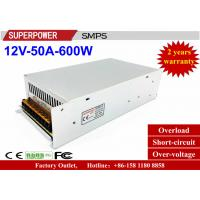 3D Printer Driver 12V50A600W single output  SMPS with CE DC12V600W full watt Iron Case for LED Lighting Factory Outlet