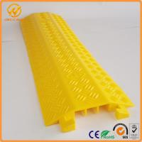 Best Yellow One Meter PVC Light Duty Cable Protector Ramp Plastic 3 Channels 2.5kg wholesale