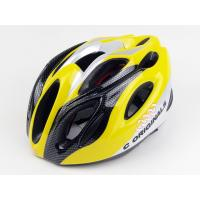 Cheap Cycling XL Sports Adult Bicycle Helmets Yellow With Carbon Reinforcement for sale
