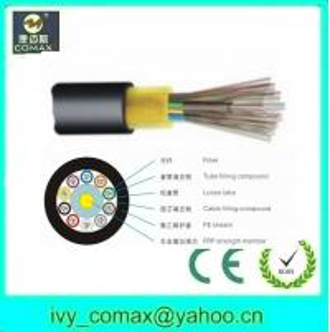 FRP Fiber Optic VS Cable GYFTY Stranded Loose Tube Non - Metallic Strength Member