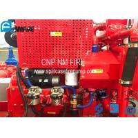 Red Fire Pump Diesel Engine 86KW Water Cold Cooling For Firefighting