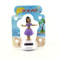Best Solar Powered Dancing Hula Girl-Purple  Suit  (Colors Vary)  car dashboard toy wholesale