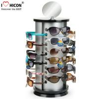 Counter Top Sunglasses Display Case Round Shape Metal Eyeglass Display Rods