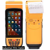Quality Industrial Phone Pos Terminal Android Barcode Scanners And Handheld Thermal Printer In One wholesale