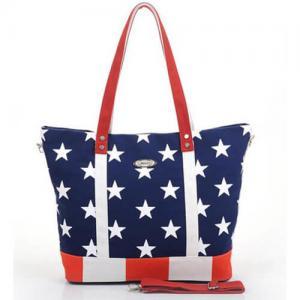 Large Floral Custom Canvas Bags For Girls , PU Shoulder Bag