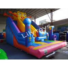 Quality 0.55 Mm Plato Pvc  Customized Size Spongebob Attractive Big Inflatable Slide Rental wholesale