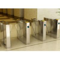 Quality Stainless Steel Flap Barrier Gate Turnstile, Half Height Turnstiles Access Control wholesale