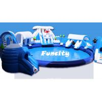 Best Custom Size Giant Inflatable Water Park Equipment On Land For Amusement Park wholesale