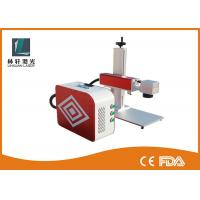 Cheap Fiber Laser Marking Equipment , Plastic Laser Marking Machine With Rotary Device for sale