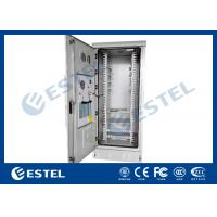 Quality 40U Steel Metal Outdoor Communication Cabinets Grey RAL 7035 Color wholesale
