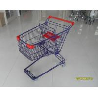 Cheap Durable 75 L Grocery Store Shopping Carts Colorful Treatment Coating for sale