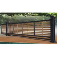 Wooden Automatic Sliding Gates , Residential Trackless Cantilever Gate