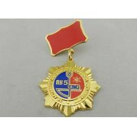 3D Gold Ural Meh Zavo Custom Awards Medals , 40mm Imitation Hard Enamel