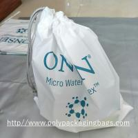 Quality Electronic Product White Drawstring Plastic Bags Scrubbing String Bag wholesale