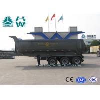 Buy cheap 24 CBM 3 Axles U Shape Steel Tipper Semi Trailer with HYVA Cylinder from wholesalers