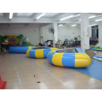 Quality 0.9mm Heavyduty Pvc Tarpaulin Inflatable Bouncer Water Sports , Inflatable Water Games wholesale