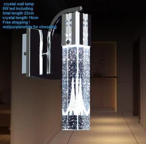 2015 Minimalist Led crystal bedroom mirror lamp