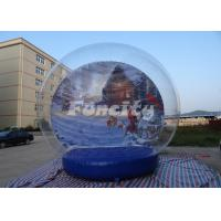 Quality Customized Theme Inflatable Snow Globe for Christmas / Halloween With PVC Material wholesale