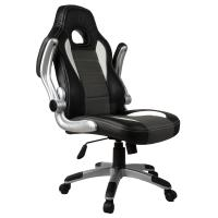 Executive Office Chair PU Leather Racing Style Bucket Desk Seat Chair