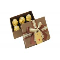 Luxury Cardboard Paper Food Packing Boxes Packaging Chocolate / Printed Full Color