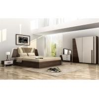 Turkish Style Full Bedroom Furniture Sets Corrosion Resistant With Melamine Finished