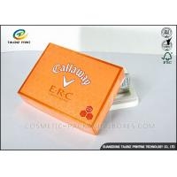 Quality Foldable Orange Cardboard Gift Boxes For Clothes / Candy / Chocolate wholesale