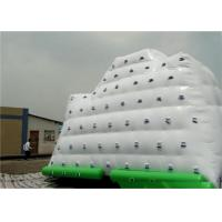 Quality White Inflatable Water Sports , 3 Sides Inflatable Iceberg For Climbing In Beach Park And Swimming Pool wholesale