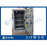 Quality Weather Proof Galvanized Steel Outdoor Equipment Cabinet With Front Door and Rear Door For Base Station wholesale