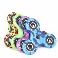 Best New EDC Tri-Spinner Fidget Spinner Toys Camouflage Pattern Hand Spinner Plastic ADHD Adults Children Education wholesale