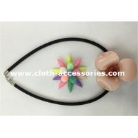 Engagement Floral Shape Resin Beaded Necklace Waterproof SGS certificate