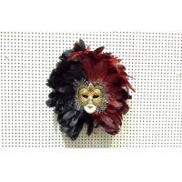 Quality Black And Red Interior Decorative Venetian Masks Traditional For Men wholesale