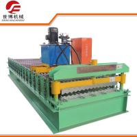 0.3 - 0.8mm Corrugated Steel Panel Roll Forming Machine With Automatic Control System