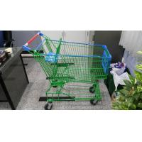 Quality Supermaket 150L Wire Shopping Trolley With Advertisement Board wholesale