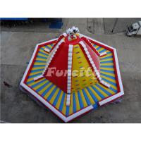 Quality 15mL*15mW*8mH PVC Tarpaulin Giant Inflatable Volcano Rock Climbing Wall With Slide For Children wholesale