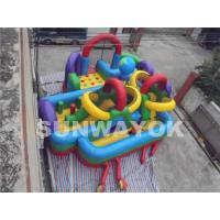 Quality OEM colourful Kids bouncy obstacle course With inflatable Arch rental with CE wholesale