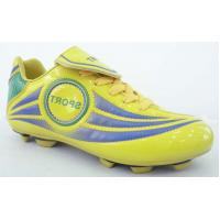 Quality yellow Childrens Comfortable Soccer Shoes for artificial turf wholesale