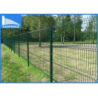 5mm 3D Fence Panel , Pvc Coated Welded Wire Mesh Panels Curving With Plastic / Metal Clip