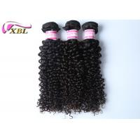Quality Raw Indian Curly Hair / Indian Virgin Hair Extensions 10 Inch Black wholesale