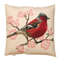 Quality Spring Red Bird And Flower Throw Pillow Digital Printing Knife Edge wholesale