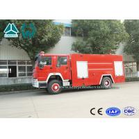 Buy cheap Emergency Rescue Fire Fighting Truck 4 X 2 Red Color 16 Ton Crane Capacity from wholesalers