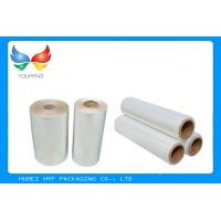 Quality Water Soluble PVC Shrink Film Rolls High Shrinkage Ratio For Full Body Sleeves wholesale