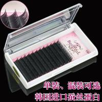 Quality Professional Semi Permanent Eyelash Extensions , Salon Individual Eyelashes B Curl Lashes wholesale