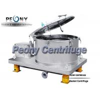 Buy cheap Batch Type Top Discharge Basket Centrifuge Used for HEMP Separation from wholesalers