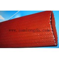 Samlongda Heavy duty PVC layflat water discharge hose for mining system, 6 inch, brown color,100m/roll
