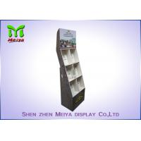 Quality Eye - Catching Magazines Cardboard Floor Display Stands , Cardboard Book Displays Shelves wholesale