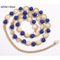 Quality Bright Pearl Belly Dance Accessories , Aluminum Waist Chain For Costumes Decoration wholesale