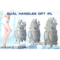 Quality Vertical OPT SHR IPL Hair Removal Machine , Dual Handles Elight IPL Beauty Equipment wholesale