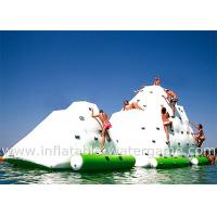 Summer Playing Inflatable Sports Equipment , Inflatable Water Iceberg With CE Air Pump